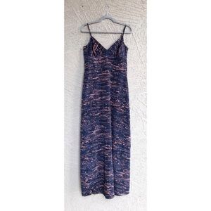 BCBGeneration Navy Printed Maxi Dress